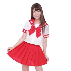 Otaku Apparel & Cosplay / Non-Character Cosplay / Color Sailor - Sailor Suit Cosplay Outfit (Red)