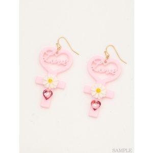 J-Fashion / Jewelry & Hair Accessories / Swankiss Heart Cross Earrings