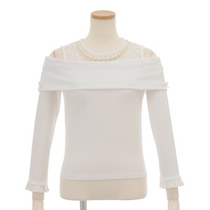 LIZ LISA Ribbed Top w/ Necklace