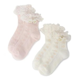 LIZ LISA Rose Corsage Socks