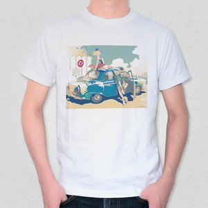 Patrolling Russian Police Officer T-Shirt