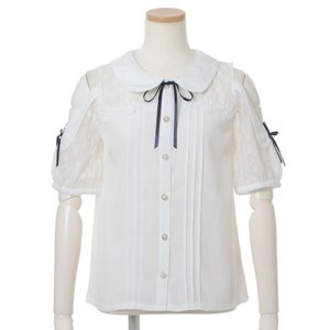 LIZ LISA Round Collar Short Sleeve Blouse