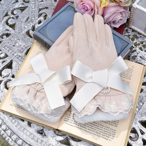 LIZ LISA Ribbon Suede Gloves