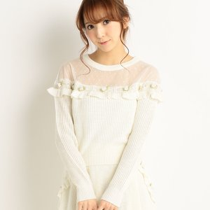 LIZ LISA Flower Knit Shirt