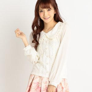 LIZ LISA Delicate Ribbon Top