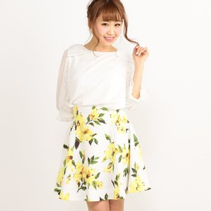 LIZ LISA Vivid Flower Skirt