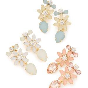 LIZ LISA Flower Bijou Clip-on Earrings
