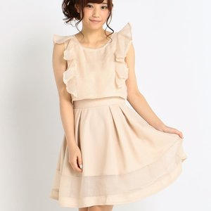 LIZ LISA Simple Gingham Dress