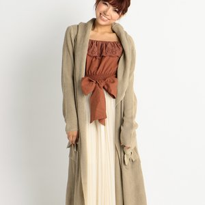 LIZ LISA Extra-Long Hooded Cardigan