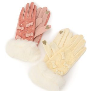LIZ LISA Lace & Mini Ribbon Gloves
