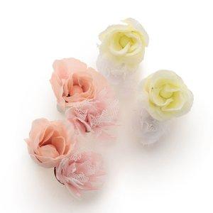 LIZ LISA Rose Tulle Earrings