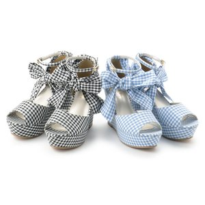 J-Fashion / Shoes / LIZ LISA Gingham Wedge Sandals