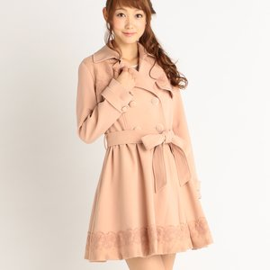 J-Fashion / Coats / LIZ LISA Lace Detail Trench Coat