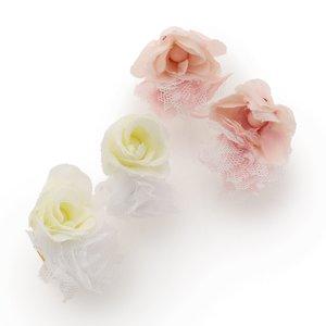 LIZ LISA Rose Tulle Clip-on Earrings