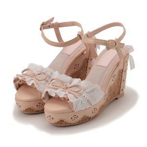 J-Fashion / Shoes / LIZ LISA Frill Lace Wedge Sandals
