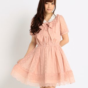 LIZ LISA Polka Dot Chiffon Dress