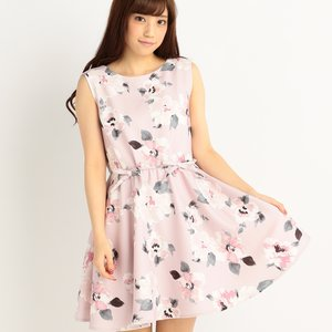 LIZ LISA Flower Pattern Sleeveless Dress