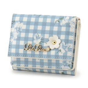 LIZ LISA Gingham Flower Mini Wallet