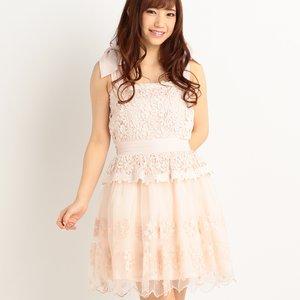 LIZ LISA Lace & Organdy Party Dress