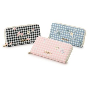 LIZ LISA Gingham Flower Long Wallet