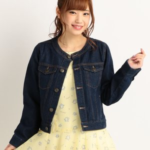 LIZ LISA Collarless Denim Jacket