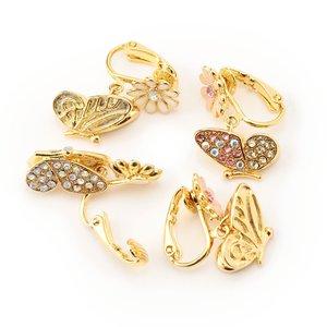LIZ LISA Butterfly Clip-On Earrings