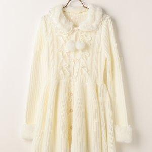 J-Fashion / Cardigans & Hoodies / LIZ LISA Fur Mesh Peplum Cardigan
