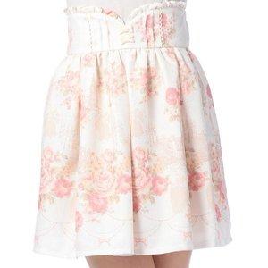 LIZ LISA Embroidered Castle Skirt
