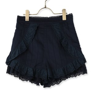 LIZ LISA Cotton Lace Frill Shorts