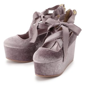 LIZ LISA Velvet Ballerina Platform Shoes