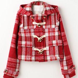 J-Fashion / Coats / LIZ LISA Checkered Short Duffle Coat