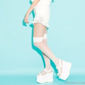 J-Fashion / Bottoms / Swankiss Ruffled Organdy Shorts