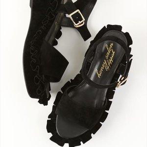 J-Fashion / Shoes / Honey Salon Frilly Sandals (Black)