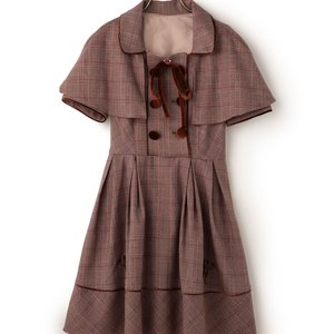 LIZ LISA Glen Plaid Dress w/ Cape