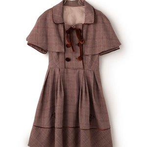 J-Fashion / Dresses / Coats / LIZ LISA Glen Plaid Dress w/ Cape