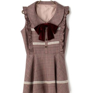 LIZ LISA Glen Plaid Sleeveless Top