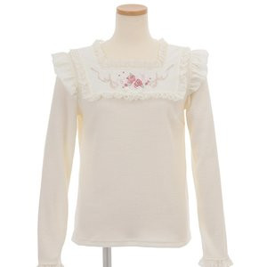 LIZ LISA Rose Embroidery Top