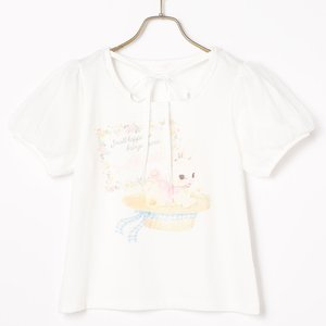 LIZ LISA Flower Rabbit Print T-Shirt
