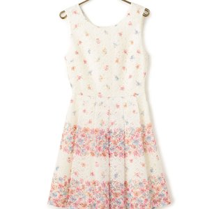LIZ LISA Lace Striped Flower Dress