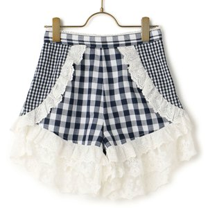 LIZ LISA Gingham Frill Shorts
