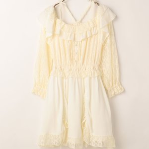 LIZ LISA Lace Drawstring Dress