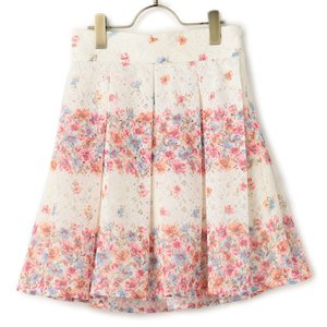 LIZ LISA Lace Striped Flower Skirt