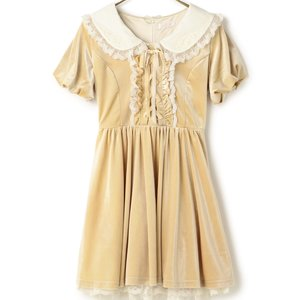 LIZ LISA Puffy Velour Dress