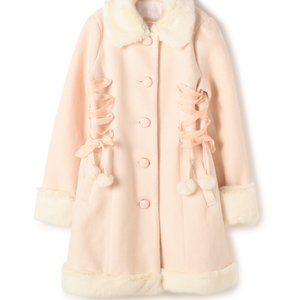 J-Fashion / Coats / LIZ LISA Lace-Up Pom Pom Coat (Limited Edition)