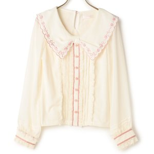 LIZ LISA Rose Embroidered Cut Top