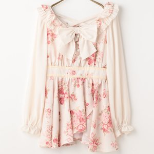 LIZ LISA Bouquet Ribbon Pattern Top