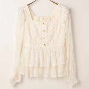 LIZ LISA Square Neck Lace Top