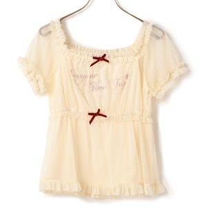 J-Fashion / Tops / LIZ LISA Puffy Sleeve Mesh Top