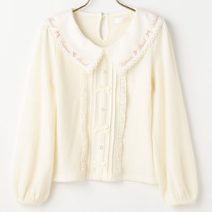 LIZ LISA Embroidered Collar Top