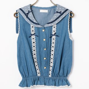 LIZ LISA Dungaree Sailor Top